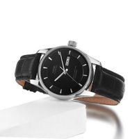 Vufflens, V001.230 Baltic Sea Collection Classic Black Dial Black Leather Mechanical