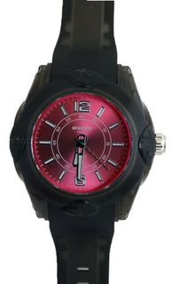 Waooh - MIAMI 44 Black Wristband with Color Dial Pink