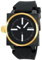 K26 Gold Plated Stainless Steel Case Black Dial Black Rubber Strap Interchangeable Filters