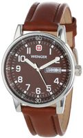 Wenger 70162 Commando Day Date XL Brown Dial Brown Leather Strap