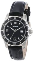 Wenger 70365 Sport Black Dial Black Leather