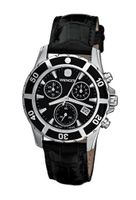 Wenger 70745 Sport Elegance Chrono Black Dial Leather