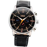 AMPM24 Elegant Self-Winding Analog Mechanical Black Leather Wrist