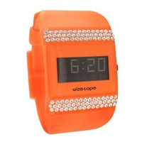 uWize and Ope Wize & Ope Unisex All Over Strass Digital WO-ALL-12S with Orange Dial and Touch Screen