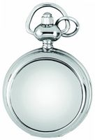 A.E. Williams Ladies' Quartz Full-Hunter Pendant , 1224, Chrome-Finished Mini with 28 Inch Chain (Suitable for Engraving)