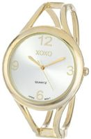 XOXO XO1096 Silver Dial Gold-tone Bangle