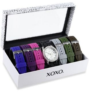 XOXO XO9028 Set with Seven Interchangeable Silicone Rubber Straps