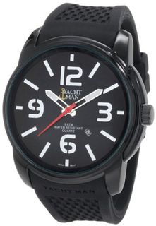 Yachtman YM0130BK Mason Oversized Round Case with Black Dial