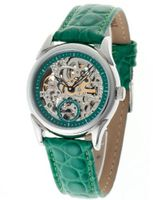 uYvesCamani Yves Camani Automatic AILA Automatik Green Gr?n YC1036-D YC1036-D with Leather Strap