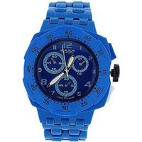 uZAZA London Zaza London Blue Chrono Effect Ladies Gents Plastic Bracelet Strap PL342