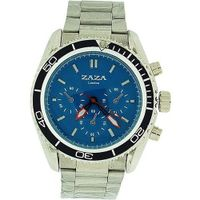 uZAZA London Zaza London Chrono Effect Blue Dial Metal Bracelet Strap Gents MMB234