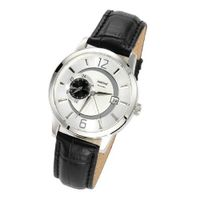 Zeeme es 095000016 Automatic with Silver Leather Strap